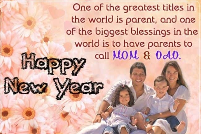 Happy New Year Wishes For MOM & DAD 2022